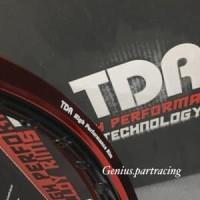 VELG TDR W SHAPE UKURAN 140 RING 17 RED BLACK TWO TONE