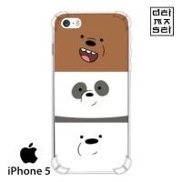 We Bare Bears Cute 03 Casing Iphone 5 5s Anti Crack Anticrack Case HP
