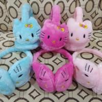 Penutup telinga / Earmuff Winter Bando Anak - Dewasa motif hello kitty