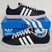 Sepatu Sneaker Adidas Gazelle Man Pria Hitam Garis Putih Grade Premium