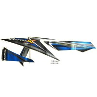 Sticker Body Kanan Black Blue – Supra X 125 871X0KYL650ZAR