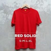 Kaos Polos Baju Oblong Merah Cabe Combed 30's Pria Wanita S M L XL