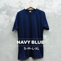Kaos Polos Lengan Pendek SoftCombed 30s Navy dongker