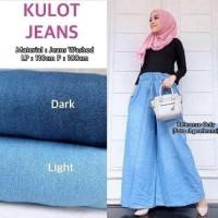 Celana Kulot Jeans muslim panjang celana jumbo wanita