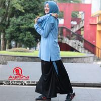 Setelan Baju Olahraga Wanita Muslimah Rok Celana Training Senam Jumbo
