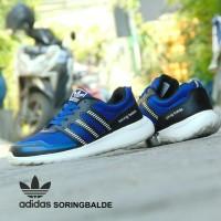 Sepatu Olahraga Adidas Soringblade Cloudfoam - Biru Hitam - Gym