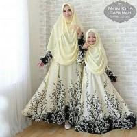 Cp Mom N Kid Basamah Gamis Couple Ibu Dan Anak Baju Muslim Pasangan -