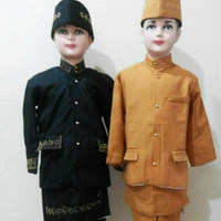 Baju adat anak//baju beskap betawi sunda size S & M