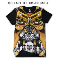 Kaos Keren superhero TRANSFORMERS BUMBLEBEE Baju Cowok Cewek Kaos anak