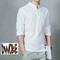 Baju Kemeja Ham Hamish Putih Fashion Pria Formal Casual Koko Panjang