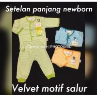 [BAJU BAYIDANANAK] Setelan panjang SALUR newborn VELVET JUNIOR Baju Ti
