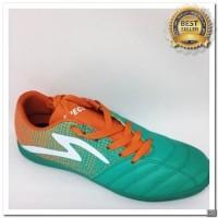 [KS] Sepatu futsal specs Equinox in comfrey green orange white 2018