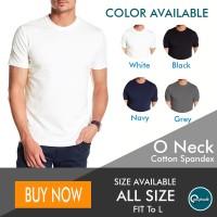 Kaos Polos Pria O Neck - T-Shirt Polos Katun Spandek / Cotton Spandex