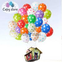 Balon Latex Polkadot / Balon Ulang Tahun / Balon Karet Polkadot