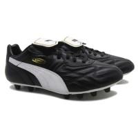 Sepatu Bola Puma King Top Di FG - Black/White/Team Gold