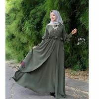 mauna maxi dress muslim / gamis murah / grosir baju hijab bandung
