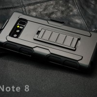 FUTURE ARMOR case Samsung Note 8 softcase casing back cover belt clip
