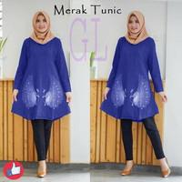 baju tunik murah/atasan muslim/busana muslim/tunic merak/gl60426
