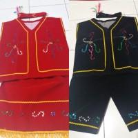 Baju dayak anak Sd - pakaian adat kalimantam