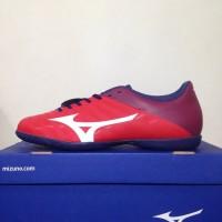 Murah Sepatu Futsal Mizuno Rebula V4 IN High Red White Blue P1GF187762
