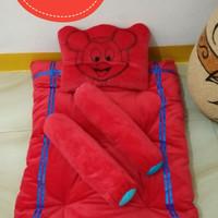 Kasur set bayi lengkap bantal guling karakter mickey mouse murah