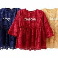 Baju xl jumbo muslim tunik atasan kebaya blouse bluss blus brukat lace