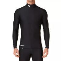 baju olahraga kaos manset bola terlaris Heat Gear UnderArmour Black