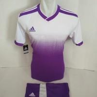setelan olahraga kaos bola jersey futsal baju volly adidas ungu