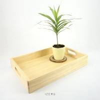 IZEMU WAKU TRAY A4 - Nampan / Baki / Tray Kayu Pinus A4