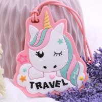 luggage tag - gantungan koper - name tag - gantungan tas unicorn 1