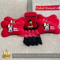 PAKET HEMAT BANTAL MOBIL MICKEY / AKSESORIS MOBIL - PAKET A