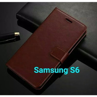 Flip Cover Samsung Galaxy S6 S6Flat Flat Wallet Leather Case Casing
