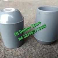 Kaki Kursi Chitose 7/8 inch atau +/- 2,2 cm bahan Plastik BAGUS Abu