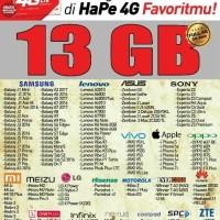 "Paket data smartfren 4G 13gb"""