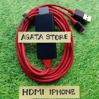Kabel HDMI HDTV Iphone 5 / 6 / 7 / 8 / X HDTV HDMI Apple Lightning