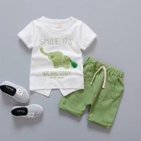 Baju Pakaian Anak Bayi Laki Cowok Perempuan Cewek kemeja gajah hijau
