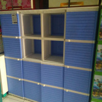 Lemari Plastik Club 4 susun 4 pintu buffet Tv