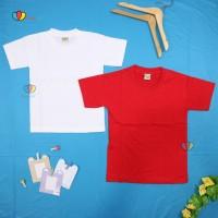 Kaos Merah Putih uk 2-10 Tahun /Polos Anak Baju Laki Perempuan Murah