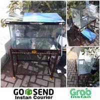 Aquarium GEX Glassterior 600 dan rak besinya ( 60x30x40 )
