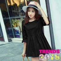 MM0883 Top Claira Devi Baju Atasan Wanita Blouse Cantik Warna Hitam