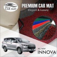 Karpet Mobil Mie Premium ALL NEW INNOVA Non Bagasi 1 Warna - BROWN
