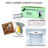 Paket Laundry Alat tembak Tag gun & Tag pin & Pita label penanda