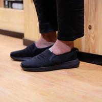 ORIGINAL Sepatu Adidas Neo Cloudfoam Lite Racer Slip On All Black