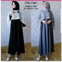 Baju muslimah gamus tunik iska cape dress