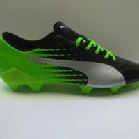 Sepatu Bola Puma Evospeed Hijau-Hitam list Silver Grade Limited