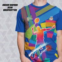 Kaos fullprint_ asian games 2018 badminton