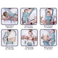 Babysafe Hipseat Carrier Newborn/gendongan hipseat