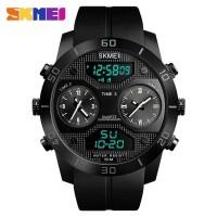 Jam Tangan Digital Analog 3 Time Pria SKMEI 1355 - Hitam