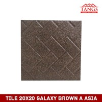 TILE 20X20 GALAXY BROWN A ASIA