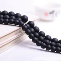 Batu Black Onyx Doff Agate 8mm Beads